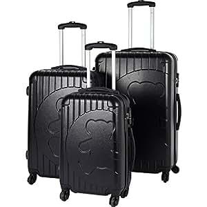 Lot de 3 valises lulu castagnette noir