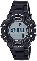 Craffords India Water Proof Diving Watches with Pedometer Functions Black Dial for Men and Women Unisex