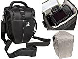 Holster bag Bodyguard Colt L Camera bag with rain cover for all SLR cameras with lenses up to 22 cm such as Canon EOS 70D 77D 80D 200D 1300D 700D 750D 760D 77D 800D Nikon D3300 D3400 D5100 D5300 D5500 D5