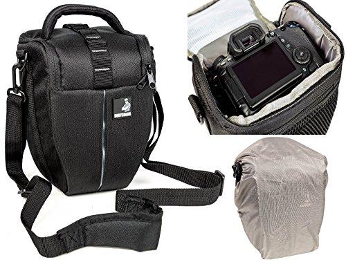 Bolsa de funda BODYGUARD Colt L Bolso de cámara con protector de lluvia pra todas las cámaras SLR con un objetivo de hasta 22 cm tal como Nikon Canon EOS 70D 77D 80D 100D 1200D 1300D 2000D 4000D 5DS R 6D 700D 70D 750D 760D 77D 7D Mark II 80D Nikon D3300 D3400 D500 D5300 D5500 D5600 D610 D7100 D7200 D7500 D500 D750