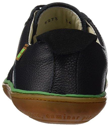 El Naturalista N5273 Soft Grain Lux Suede El Viajero, Ballerines Derby Mixte Adulte Noir (Black)