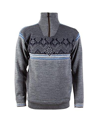 Dale of Norway felpa da uomo Glittertind Mascu Line Sweater WP grigio chiaro
