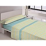Juego de sábanas AVILA Libela Cama 105 cm. Color Azul - Sedalinne