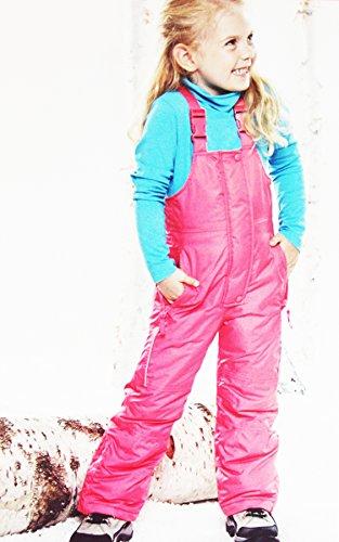 IMPIDIMPI Kleinkinder Schneehose Kinder Skihose TECHTEX Bionic Finish ECO 4 Farben Gr.74 bis 116 (Pink, 74/80) -