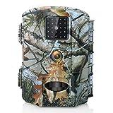 Olymbros Cámara de Caza 16MP 1080P Trail Cámara Impermeable IP66 con Infrarrojos PIR Sensor de Movimiento con Lapso de Tiempo 82ft Visión Nocturna de Caza para Hogar Vigilancia Caza