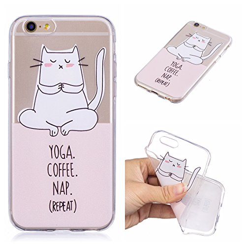 Coque iPhone 6S, iPhone 6 Case, Voguecase [Ultra Fin] [Anti Choc] [Anti Rayures] Premium TPU Silicone, Exact Fit / Léger / Souple Housse Etui Coque Pour Apple iPhone 6/6S 4.7 (Flamant 11)+ Gratuit Sty Yoga chat