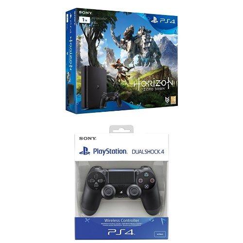 PlayStation 4 - Consola De 1 TB + Horizon Zero Dawn, Color Negro + Sony -...