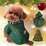 Jspoir Melodiz Pet Weihnachten Kostüm, Weihnachten Haustier Kleidung, Hund Schal, Pet Christmas Supplies (XS)