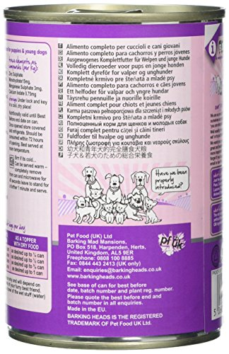 Barking Heads Wet Fat Dog Slim Dog Food Tins, Pack of 6 6