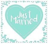 Always Amore® Hochzeitsherz zum Ausschneiden, hochwertiger Stoff mit extrastarken Schlaufen, Hochzeitsbrauch, Hochzeitsgeschenk mit Herzmotiv, Laken für Braut und Bräutigam mit idealem Design für tolle Fotos, Mint