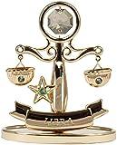 Sternzeichen Waage Figur mit Kristallen goldfarben MADE WITH SWAROVSKI ELEMENTS