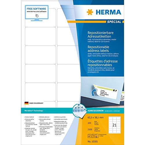 herma-10301-adressetiketten-a4-repositionierbar-papier-matt-635-x-381-mm-2100-stuck-weiss