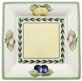 Villeroy & Boch French Garden Macon Quadratische Untertasse, 16 cm, Premium Porzellan, Weiß/Bunt