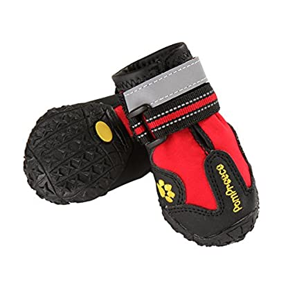 Onemore Choice Waterproof Dog Shoes for Medium and Large Dogs With Reflective Velcro 4pcs … 2