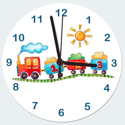 Zug Uhr, Uhr, Jungen Kinder Uhr, Boy Wanduhr