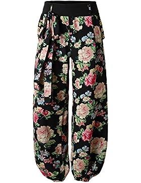 BAISHENGGT-Pantalones Anchos para Mujer Bolsillos Laterales