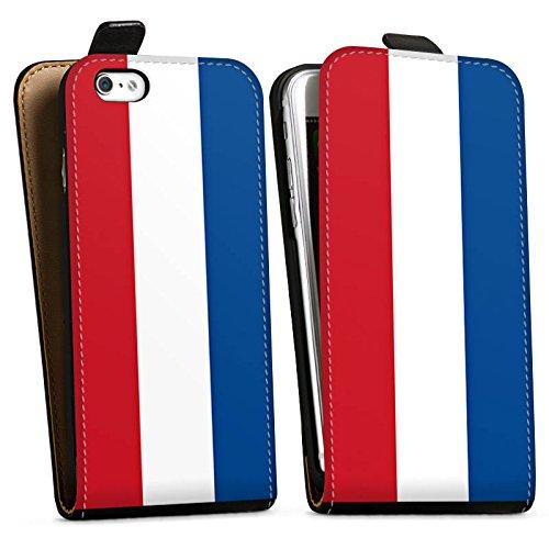 Apple iPhone X Silikon Hülle Case Schutzhülle Niederlande Holland Flagge Downflip Tasche schwarz