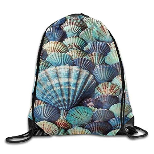Ocaohuahuaba Drawstring Gym Sport Bag Scallop Conch