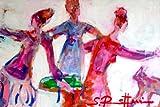 "Sibylle Rettenmaier "" TANZ BABY TANZ "" Original Kunst – Leinwandbild - handgemaltes Unikat in Acryl – Moderne Kunst – abstraktes Wandbild – Frauengruppe - Porträt 150 x 100 cm"