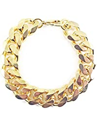 Schweres Panzerarmband 18kt. Gold Doublé 16,5 mm Länge wählbar Armband Herren-Armband Goldarmband Damen Geschenk Schmuck ab Fabrik Italien tendenze
