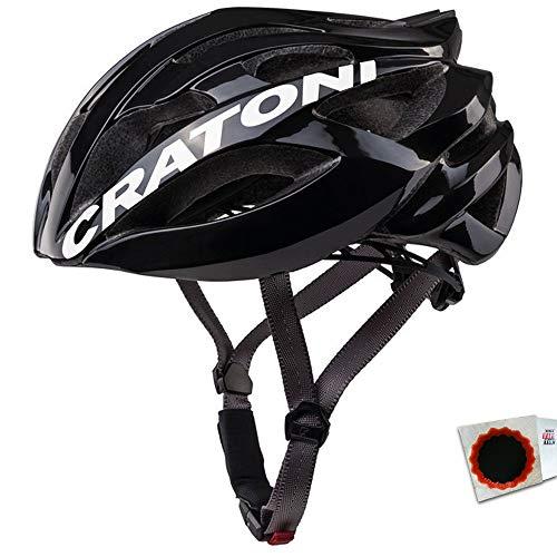 Cratoni Fahrradhelm C-Bolt (Road) Gr. M/L (56-59cm) Glanz schwarz Weiss Fahrrad -