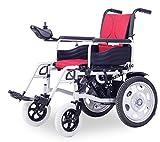 M-CH silla de ruedas Silla de ruedas eléctrica, Scooter antiguo, plegable, discapacitado, ciclomotor, totalmente automático, silla de ruedas inteligente Sillas de ruedas eléctricas (Color : Red)