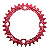 Asixx Plateau de Pédalier BCD 104, Anneau de Chaîne de Manivelle Vélo VTT en Acier, Pièces de Réparation Bike Chain Ring, 32/34/36/38 Dents(Rouge 32 Dents)