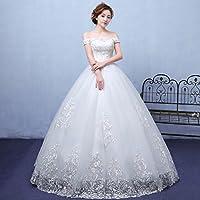 XP Verano Estilo Blanco Hombro Vestido de Novia Moderno Encaje Auto-Cultivo Vestido Novia Vestido