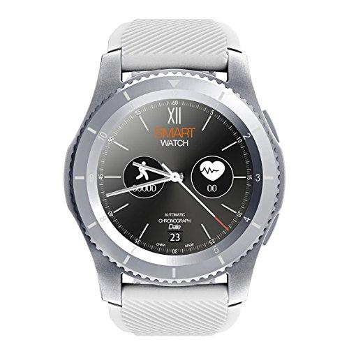 Kivors® 3.0/4.0Bluetooth Smart Watch Armband Telefon Uhr Tracker Uhr mit Herzfrequenz Armband Aktivität Tracker Gesundheit Schrittzähler Monitor Sport Armband Armbanduhr Telefon für iPhone IOS und Android Smartphones (mit grünes Band)