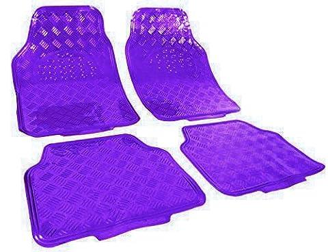 WOLTU AM7162 voiture tapis,ALU Chrome Optique, tapis de voiture universel,Tapis Moquette universel ,Violet