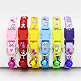 #6: Pets Empire Colorful Printed Nylon Pets Collar Adjustable Puppy Cat Dog Collar Pet Supplies ONE RANDOM COLOR SEND AND PATTERN MAY VARY