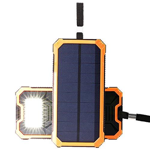 NexGadget Cargador Portátil Solar 15000mAh 2 Puertos USB Batería Externa ( Naranja...