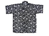 Hawaiihemd Hawai Freizeit Hemd Shirt Viskose schwarz Blumen weiß tropical, Größe:XL