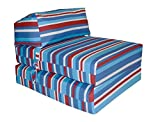 JAZZ CHAIRBED - BLUE STRIPES Deluxe Single Chair Bed