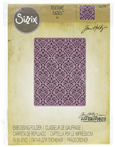 Sizzix 661592Texture Fades, Prägeschablone, Damast, von Tim Holtz. -