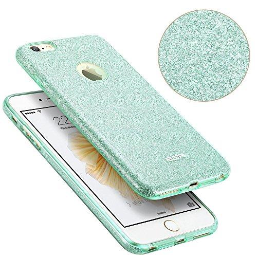 iPhone 6 Plus / 6S Plus Hülle (5,5 Zoll), ESR® Glitzer Schutzhülle [Weiche TPU Abdeckung + Glitzer Papier + PP innere Schicht] [Drei in Einem] Hülle für iPhone 6 Plus/6S Plus (Champagner Gold) Grün