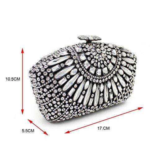 Borsa Del Diamante Del Sacchetto Di Sera Di Diamanti Di Lusso Delle Donne D