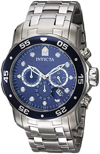 Invicta 0070 Pro Diver - Scuba Herren Uhr Edelstahl Quarz blauen Zifferblat