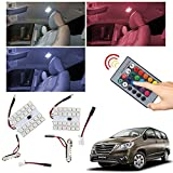 #5: Vheelocityin Remote Changing Color 2Pc 24 LED SMD Car Roof Light Dome Light For Toyota Innova