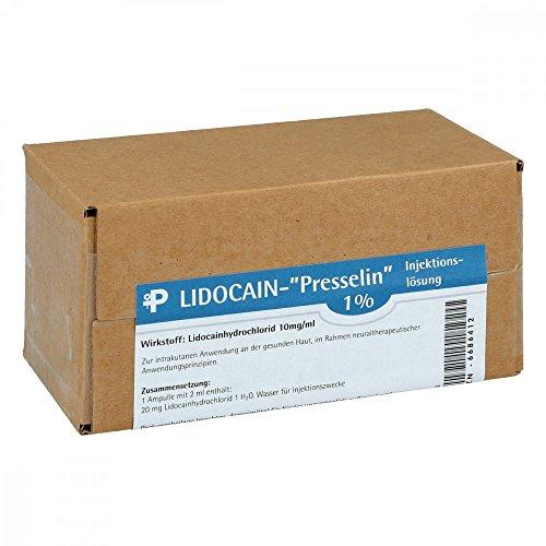 Lidocain Presselin 1{91cb510af501291f3fcc136e05a0fb3993dc8643b145b3bc9861aeb12cab13ea} Inj 50X2 ml