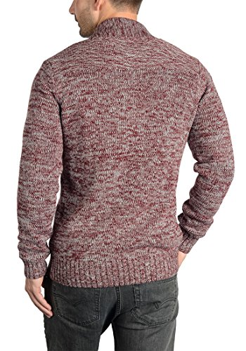 SOLID Philotus - Cardigan da Uomo Wine Red Melange (8985)