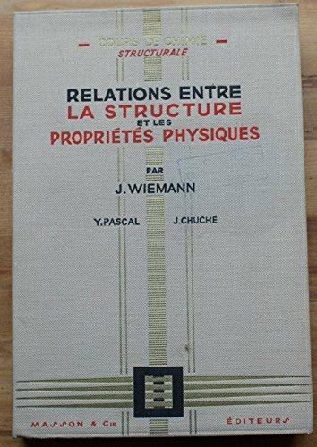 Relations entre la structure et les proprits physiques