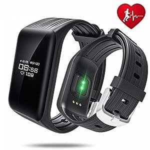 UWATCH Fitness Tracker, Fitness Armbanduhr Wasserdicht Fitness Tracker HR mit Herzfrequenz/Schlafanalyse/Kalorienzähler/Aktivitätstracker Schrittzähler - Smart Fitness Armband Android IOS