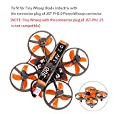 Makerfire 6pcs 300mah 1S HV 3.8V Lipo Battery 30C JST-PH 2.0 PowerWhoop mCPX Connector Rechargeable 1S LiPo Battery for Tiny Whoop Micro FPV Racing Drone