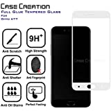 Case Creation™ Oppo A77 Tempered 5D Glass | Oppo A77 | Premium Full Front Body Cover | Edge to Edge Full Glue Screen Guard Protector -White Design