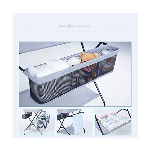 YRR Changing Table Folding Diaper Station Nursery Organizer for Infant YRR ★Made of rugged material, safe and sturdy construction, and quick and easy assembly design, it is also easy to wipe and clean, foldable, easy to carry, and can be deployed in seconds or indoors. Keep your baby safe ★Size: 80*67*104cm;Applicable baby age: 0~3 years old;Can carry weight: less than 25 kg;Material: Steel Pipe, high quality Oxford cloth ★Foldable design, easy storage, does not occupy space 8
