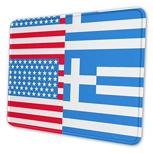 Griechische Flagge Mousepad Rutschfeste Gummi Gaming Mouse Pad Rechteck Mauspads für Computer Laptop -
