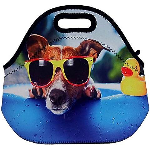SummerBoom cane sulla piscina Neoprene Borse porta alimenti dotata di zip,ideale per viaggi, pic-nic e uso quotidiano