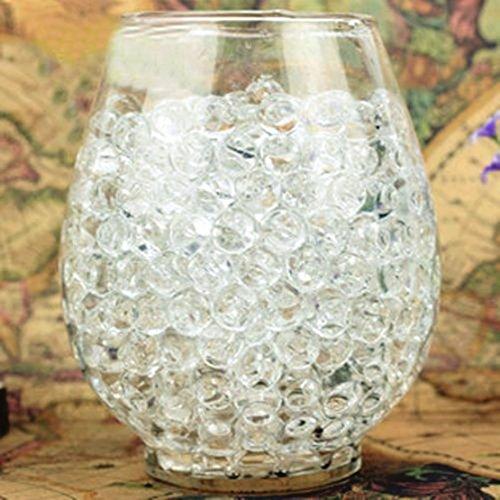 ANKKO 24 bolsas Gel cristal bolas de agua Perlas de jalea florero decoración de boda, Transparente
