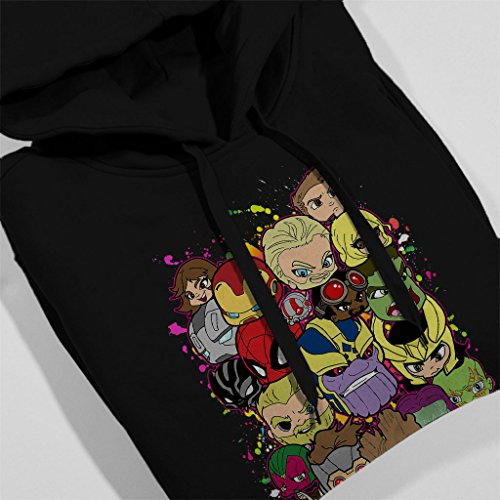 Lil Avengers Infinity Wars Women's Hooded Sweatshirt Black